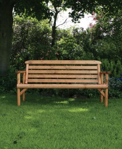 wooden bench rustic