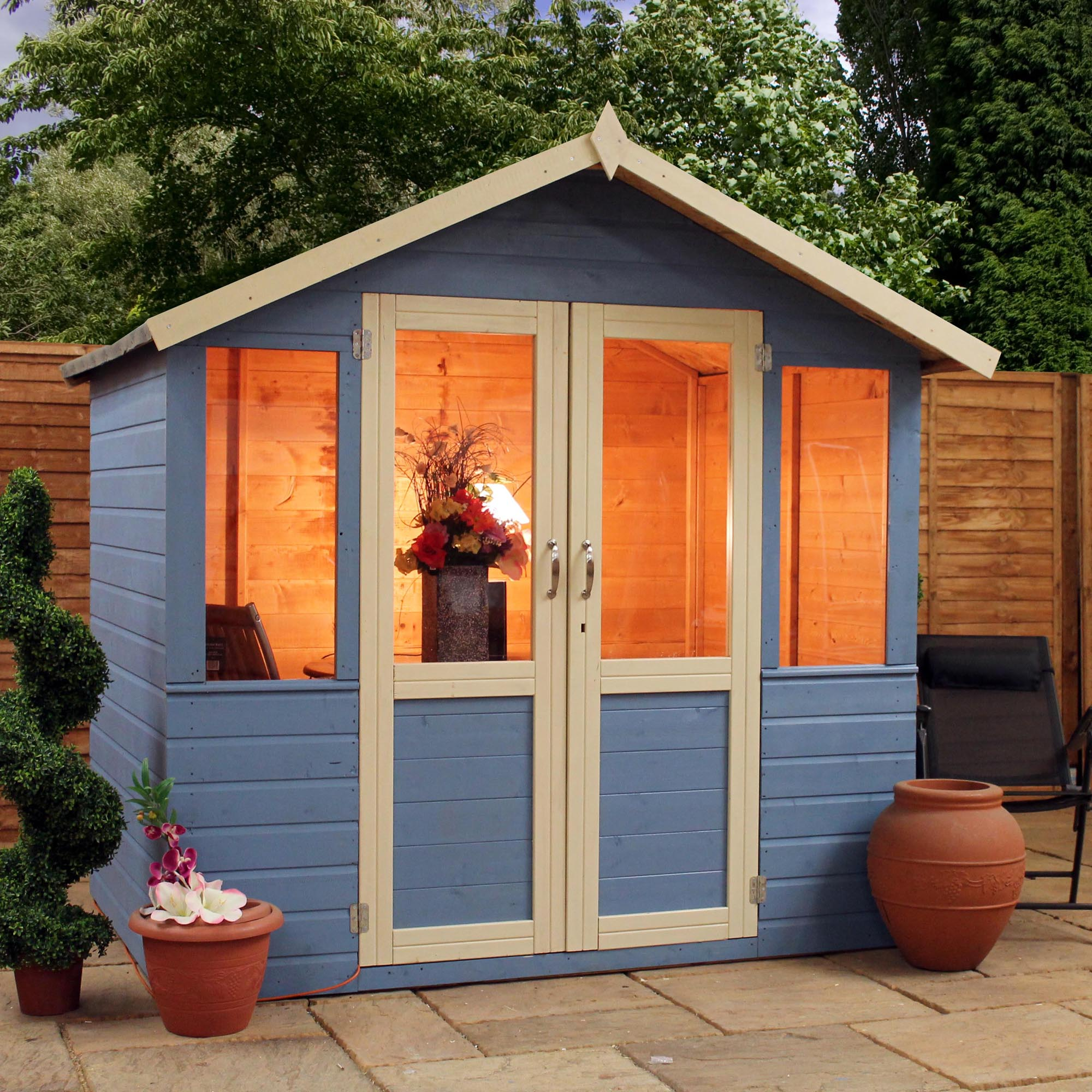 Woodcraft uk manufacturers of garden timber buildings for Garden designs with summer houses
