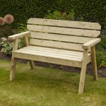Exmouth wooden bench